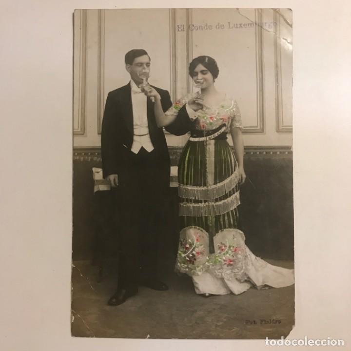 Fotografía antigua: El Conde de Luxemburgo. Opereta. Teatro. Fotografía / Tarjeta postal original - Foto 2 - 154489778