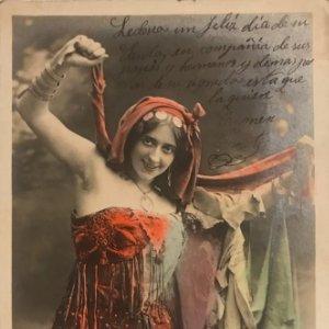 Bruzeau. Walery Paris. Fotografía / Tarjeta postal original circulada. Principios de siglo