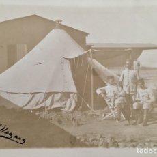 Fotografía antigua: CADETES DE INFANTERIA EN PRACTICA, 1908. FIRMA VILLEGAS. Lote 47339601