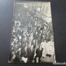 Fotografía antigua: GETAFE MADRID PROCESION NUESTRA SEÑORA DE LOS ANGELES ANTIGUA FOTOGRAFIA TAMAÑO POSTAL. Lote 154985838