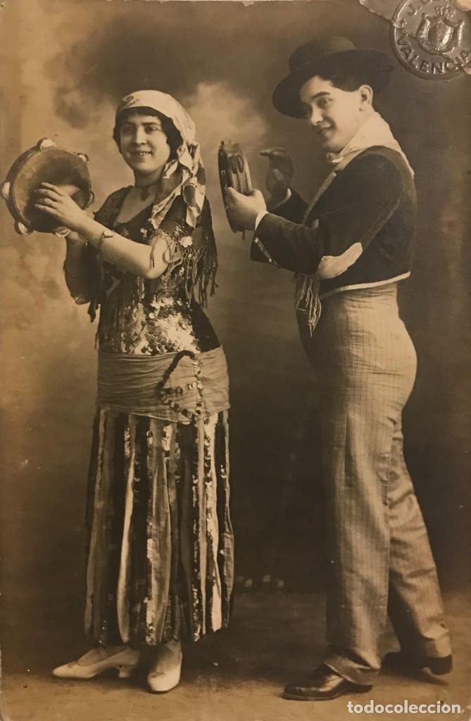 1916 TOCANDO LA PANDERETA. POSTAL FOTOGRÁFICA (Fotografía Antigua - Tarjeta Postal)
