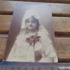 Fotografía antigua: FOTO FOTOGRAFIA TARJETA POSTAL SEÑORITA. Lote 155604218