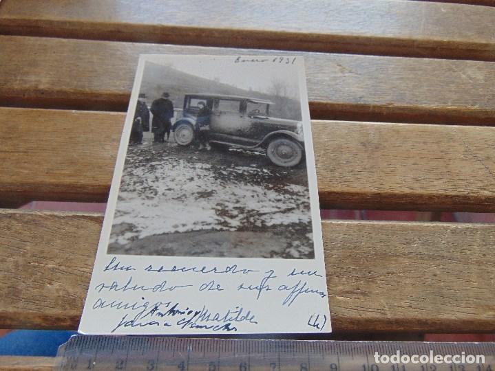 FOTO FOTOGRAFIA TARJETA POSTAL CIRCULADA ENERO 1931 COCHE CLASICO REINOSA ?? (Fotografía Antigua - Tarjeta Postal)