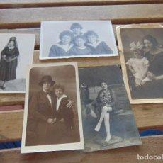 Fotografía antigua: FOTO FOTOGRAFIA TARJETA POSTAL LOTE DE 5 MUJERES NIÑOS. Lote 155606126