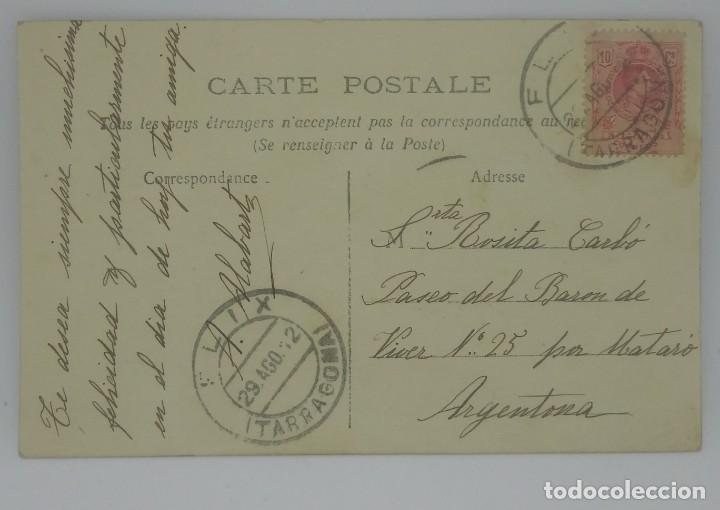 Fotografía antigua: 1912 Postal circulada enviada a Argentona. Matasellos de Tarragona 1912 Nº2775 - Foto 3 - 155639298