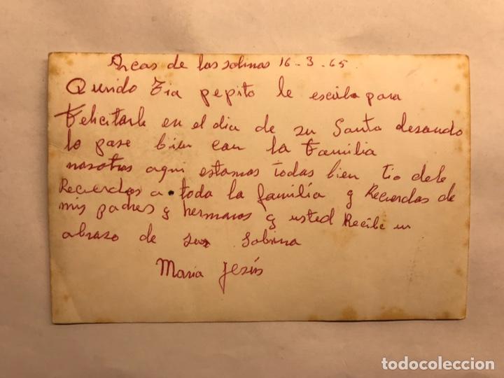 Fotografía antigua: ARCOS DE LAS SALINAS (Teruel) Fotografía Postal. Coloreada. Entrada al pueblo. Autor: Alcodori - Foto 2 - 155719109