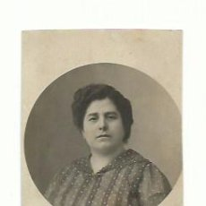 Fotografía antigua: TARJETA RETRATO MUJER C. 1900. Lote 156510374
