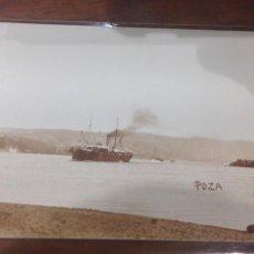Fotografía antigua: FOTO POSTAL BARCO VAPOR - ENTRE LOS AÑOS: 1910_1920'S. Lote 156656998