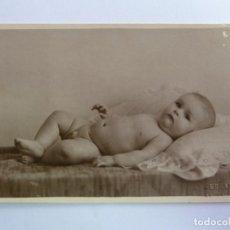 Fotografía antigua: TARJETA POSTAL ANTIGUA ORIGINAL. BEBÉ. SELLO HERNÁNDEZ LAS PALMAS. . Lote 156986194