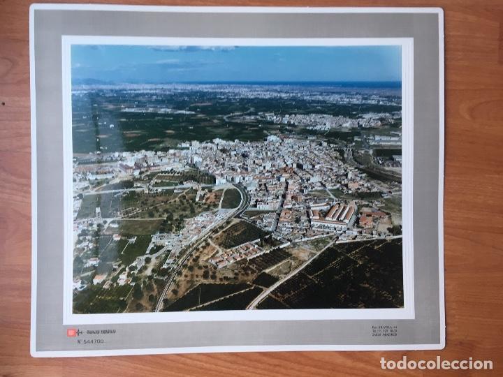 PAISAJES ESPAÑOLES N 544700 PICASSENT FOTOGRAFIA AEREA GRANDE 39X30,5 CM EN MARCO CARTÓN 47X40 CM (Fotografía Antigua - Tarjeta Postal)