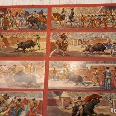 Fotografía antigua: TOROS, VISIONSCOPE 10 TARJETA POSTAL, GRAN FORMATO, SECUENCIAS TERCIOS TOROS.. Lote 157814018