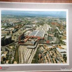 Fotografía antigua: PAISAJES ESPAÑOLES N 586377 RENFE MADRID CHAMARTIN FOTO AEREA GRANDE 39X30,5 CM . Lote 158289690