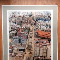 Fotografia antiga: PAISAJES ESPAÑOLES N 914047 CADIZ FOTOGRAFIA AEREA GRANDE 39X30,5 CM ESTACION RENFE FERROCARRILES. Lote 158291138