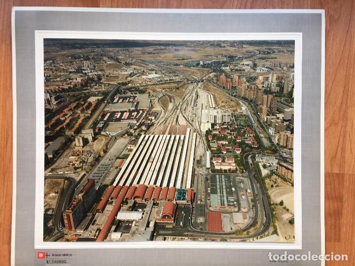 PAISAJES ESPAÑOLES N 740693 RENFE MADRID CHAMARTIN FOTO AEREA GRANDE 39X30,5 CM (Fotografía Antigua - Tarjeta Postal)