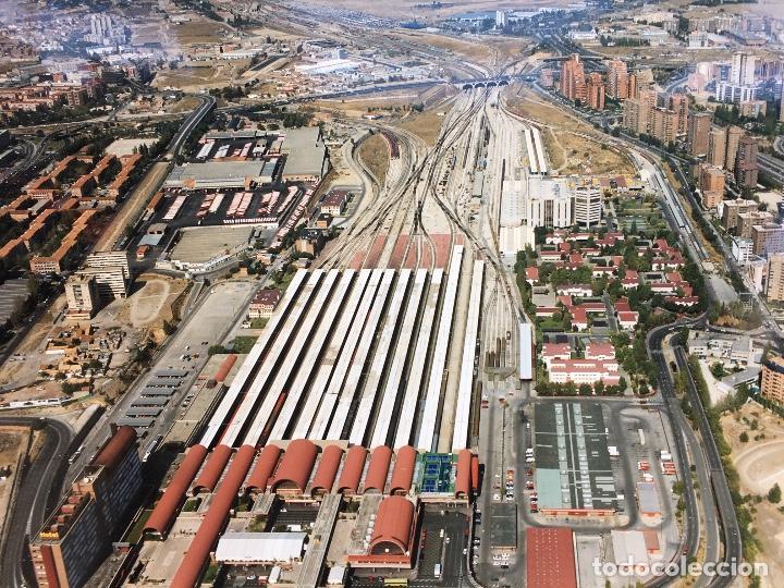 Fotografía antigua: PAISAJES ESPAÑOLES N 740693 RENFE MADRID CHAMARTIN FOTO AEREA GRANDE 39X30,5 cm - Foto 3 - 158425094