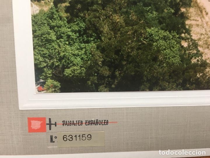 Fotografía antigua: PAISAJES ESPAÑOLES N 631159 SANTANDER FOTO AEREA 39X30,5 cm en marco cartón 47x40 cm - Foto 2 - 158652494