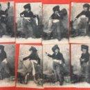 Fotografía antigua: 8 POSTALES NIÑO BANDOLERO CURRO JIMÉNEZ FOT. LAUREN COLECCIÓN CURRITO 1900 BARQUERO DE CANTILLANA. Lote 159234042