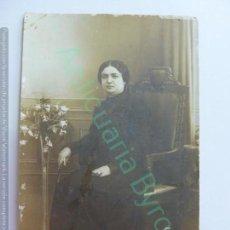 Fotografía antigua: TARJETA POSTAL. FOTOGRAFÍA ALEMANA. LAS PALMAS DE GRAN CANARIA. MUJER.. Lote 159957002