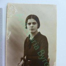 Fotografía antigua: TARJETA POSTAL. SELLO PONCE. LAS PALMAS DE GRAN CANARIA. MUJER. 1931. Lote 159957122