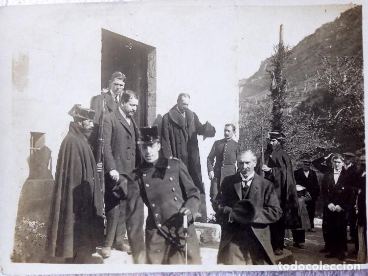 P-9297.VISITA DEL REY ALFONSO XIII A LAS MINAS DE CARBON DE FIGOLS CON CONDE DE FIGOLS. 1908. (Fotografía Antigua - Tarjeta Postal)
