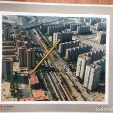 Fotografía antigua: PAISAJES ESPAÑOLES FOTOGRAFIA AEREA 39X30,5 HOSPITALET DE LLOBREGAT BARCELONA. Lote 160282506
