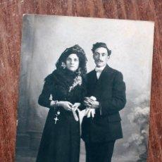 Fotografía antigua: ANTIGUA FOTOGRAFIA TARJETA POSTAL - MATRIMONIO O BODA - ALOGRAFF AMERICAN - BARCELONA. Lote 160370474