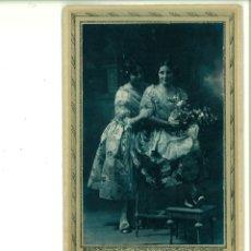 Fotografía antigua: PAREJA DE SEÑORITAS POSANDO. SANCHÍS. ALCOY. Lote 162940910