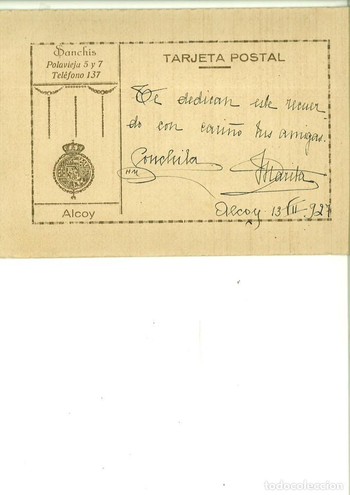 Fotografía antigua: PAREJA DE SEÑORITAS POSANDO. SANCHÍS. ALCOY - Foto 2 - 162940910