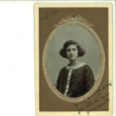 Fotografía antigua: SEÑORITA POSANDO EN ESTUDIO. BELDA-ALBACETE. Lote 162945070