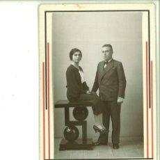 Fotografía antigua: PAREJA POSANDO EN ESTUDIO. FOTO STUDIO. ALCOY. Lote 162945558