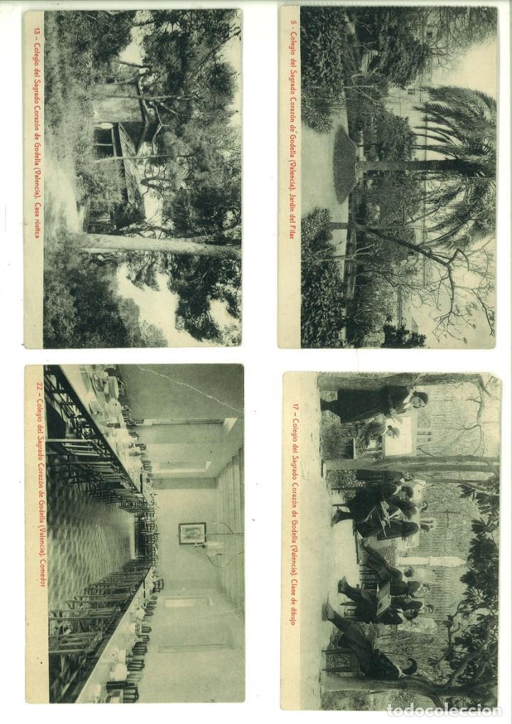 COLEGIO DEL SAGRADO CORAZÓN DE GODELLA (VALENCIA). 4 POSTALES (Fotografía Antigua - Tarjeta Postal)