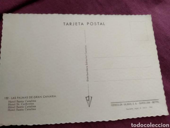 Fotografía antigua: Tarjeta postal las Palmas de gran Canaria hotel santa Catalina n.132 - Foto 2 - 163570908