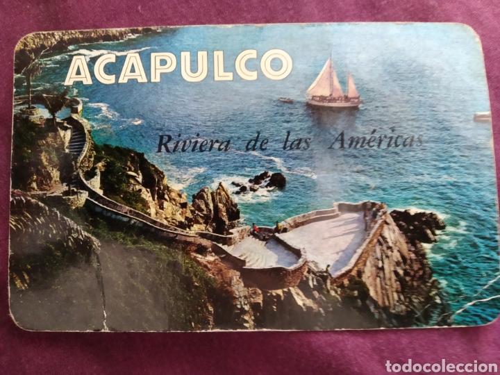 TARJETA POSTAL ACAPULCO VELERO EN LA QUEBRADA DE ACAPULCO (Fotografía Antigua - Tarjeta Postal)