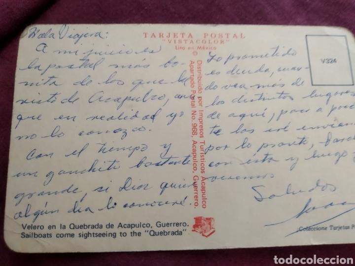 Fotografía antigua: Tarjeta postal Acapulco velero en la quebrada de Acapulco - Foto 2 - 163571060