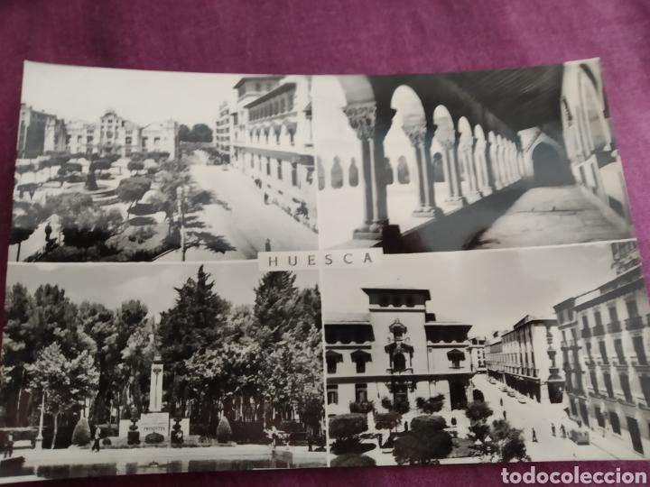 TARJETA POSTAL HUESCA PLAZA DE NAVARRA (Fotografía Antigua - Tarjeta Postal)