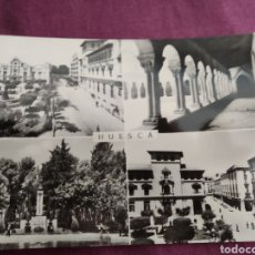 Fotografía antigua: TARJETA POSTAL HUESCA PLAZA DE NAVARRA. Lote 163571378
