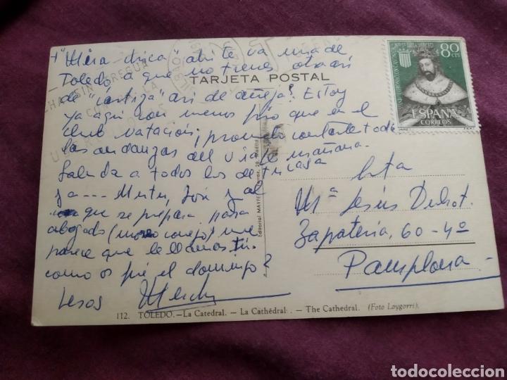 Fotografía antigua: Tarjeta postal Toledo la catedral - Foto 2 - 163571738