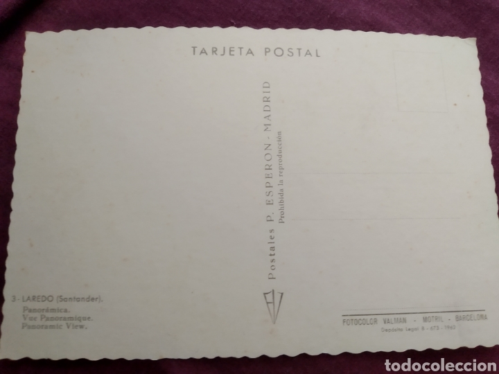 Fotografía antigua: Tarjeta postal Laredo Santander panorámica N.3 - Foto 2 - 163572188