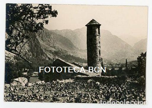ANDORRA IGLESIA DE SANTA COLOMA AÑOS 20/30 (Fotografía Antigua - Tarjeta Postal)