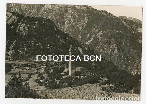 ANDORRA VISTA DE LA IGLESIA DE SANT MIQUEL D'ENGOLASTERS AÑOS 20/30 (Fotografía Antigua - Tarjeta Postal)