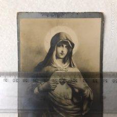 Fotografía antigua: ANTIQUÍSIMA POSTAL DEL CORAZÓN DE MARÍA. VIRGEN. RELIGIOSA.. Lote 165132237