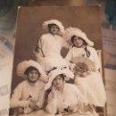 Fotografía antigua: ANTIGUA FOTOGRAFIA POSTAL GRUPO MUJERES BATALLA DE LAS FLORES MATEO MURCIA. Lote 165361382