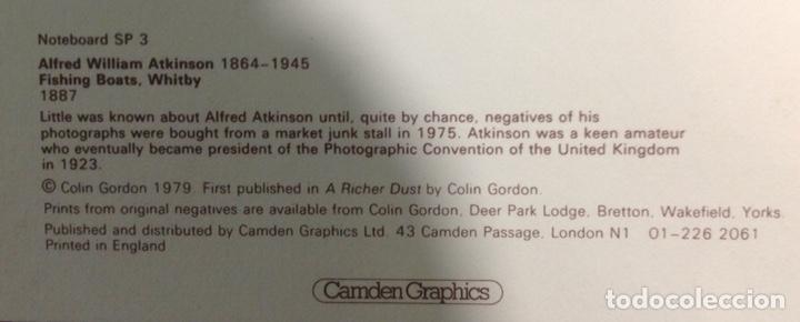 Fotografía antigua: 2 Reproducciones de fotos antiguas, motivos marineros, P. Martin y A.W. Atkinson - Foto 3 - 166534998