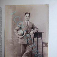 Fotografía antigua: TARJETA POSTAL. CABALLERO. SELLO FOTO PÉREZ GALDÓS. Lote 167332576