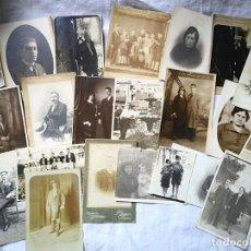 Fotografía antigua: LOTE DE 42 FOTOGRAFÍAS. HOMBRES, MUJERES Y GRUPOS. DIFERENTES FOTÓGRAFOS. DESDE PRINC. S. XX. Lote 168080064