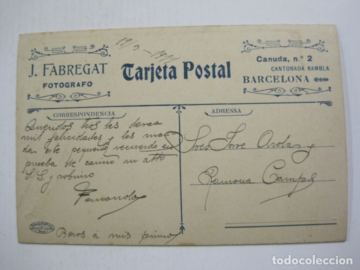 Fotografía antigua: MARINERO-TARJETA POSTAL FOTOGRAFICA-FOTO JUAN FABREGAT, BARCELONA-VER FOTOS-(60.758) - Foto 6 - 168745516