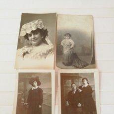 Fotografía antigua: LOTE 4 POSTALES ANTIGUAS. Lote 169552181