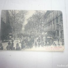 Fotografía antigua: BARCELONA-RAMBLA DE LOS ESTUDIOS.. Lote 169864296