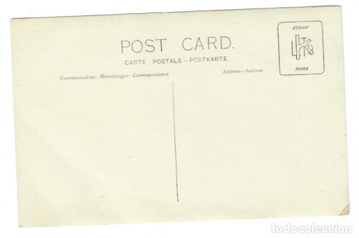Fotografía antigua: Coleccionismo fotográfico - Antigua Tarjeta Postal / Niña con ramo de flores - Foto 2 - 169867940