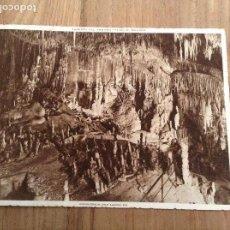 Fotografía antigua: MALLORCA, CUEVAS DRACH, SALA ALFONSO XIII. Lote 169988976